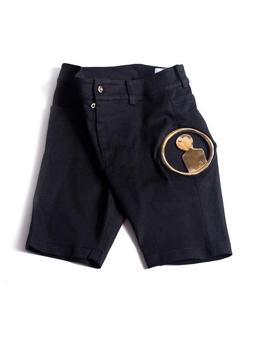 MC Medallion Logo Denim Shorts