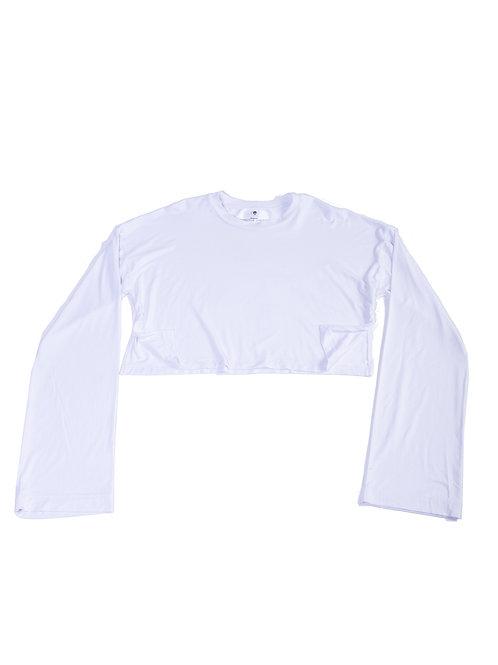 MC Unisex Whimsy Sleeve Crop-top T-Shirt w/slit