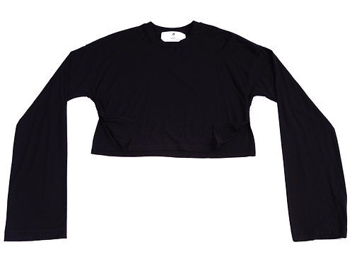 MC Unisex Whimsy Sleeve Crop-top T-Shirt w/slits