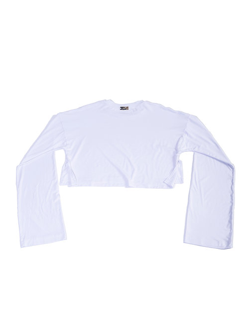 MC Unisex Whimsy Sleeve Crop-top T-Shirt w/slit