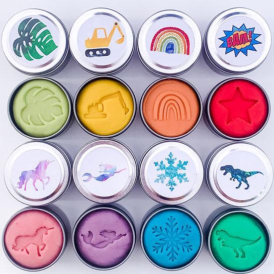 Play dough, rainbow 8 pack