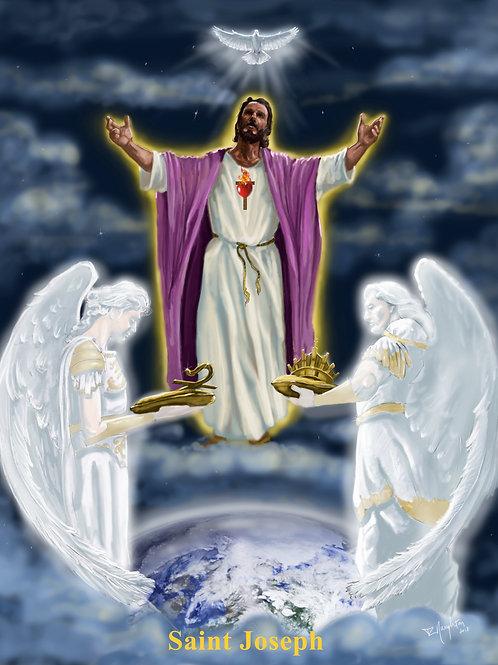 """Saint Joseph  8"""" x 10"""" Color Image"""