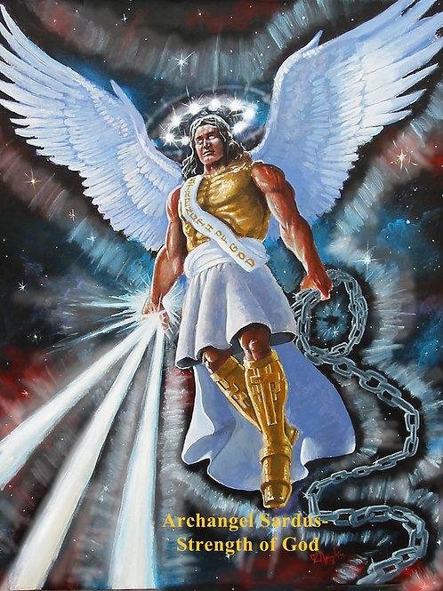 """Archangel Sardus - Strength of God  8"""" x 10"""" Color Image"""