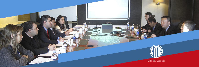 Reunión de trabajo con Citic,Beijing