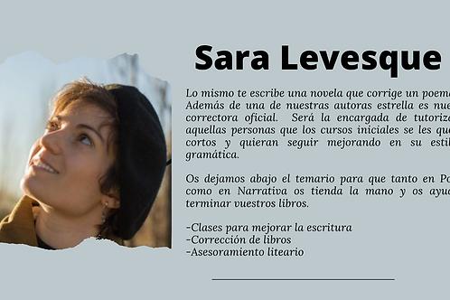 Curso de escritura Sara Levesque