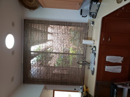 PROVENANCE WOVEN WOODS ROMAN Maldives Valcanic Powerview Remote controlled blinds