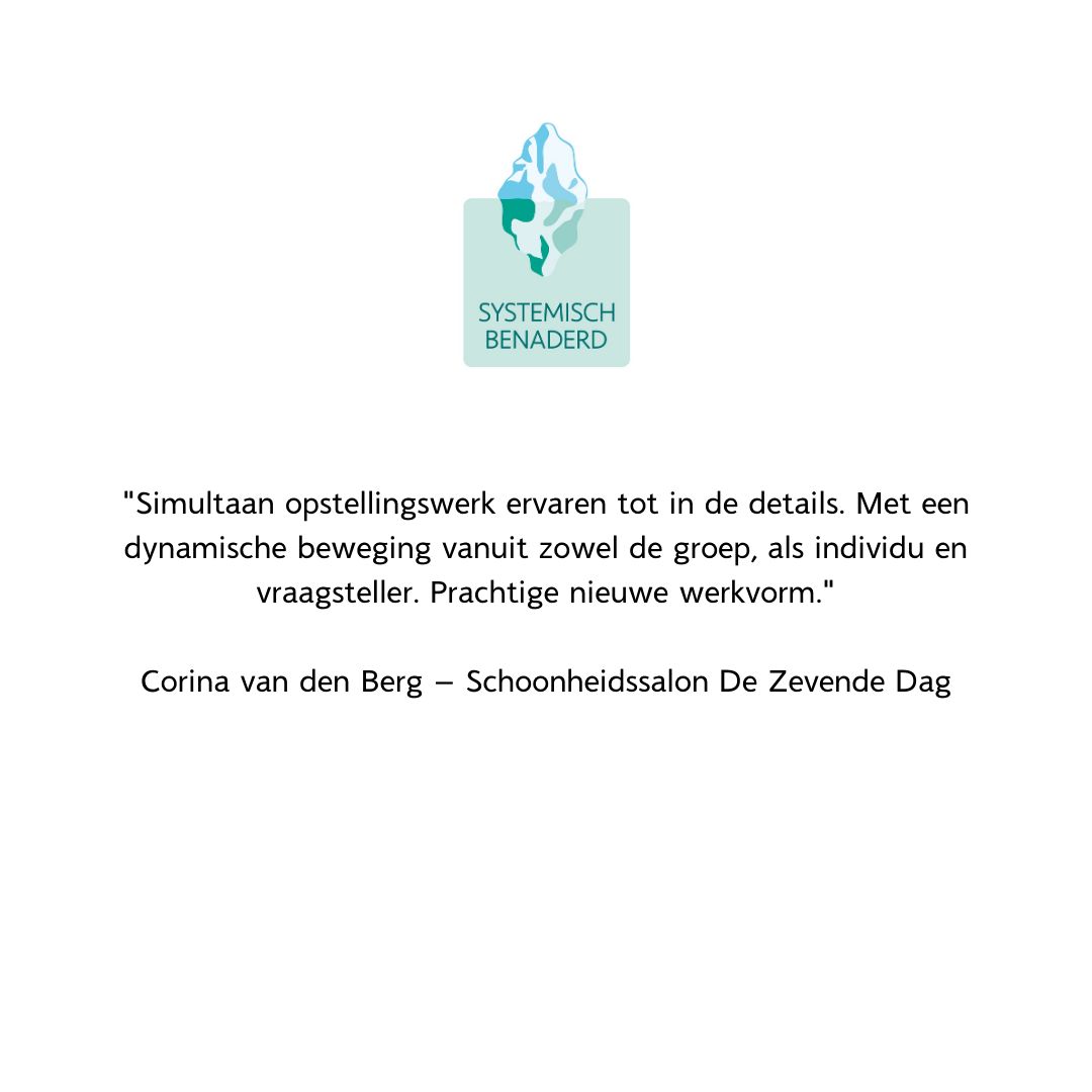 Reactie deelnemers Systemisch Benaderd Corina van den Berg