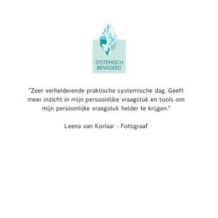 Reactie deelnemers Systemisch Benaderd Leena van Korlaar