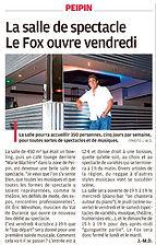 FOX Café-Concerts - Peipin.fr - Article La Provence 2 octobre 2019
