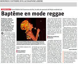 FOX Café-Concert - Le Dauphiné 2 octobre 2019 - Agnes Braisaz