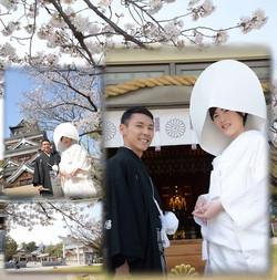 挙式(広島護国神社)-披露宴(料亭 くり川)