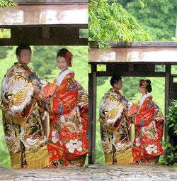 挙式(横田八幡びすとろぱぱル挙式-披露宴(神楽門前湯治村-神楽ドーム)