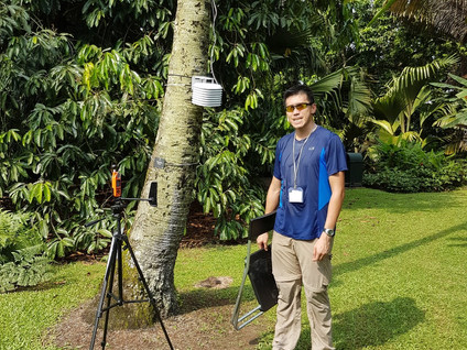 NUS Geography urban climate research at Singapore Botanic Gardens & Bishan-AMK Park!