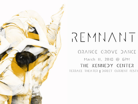 *THIS SUNDAY*: REMNANTS @ The Kennedy Center (Washington, DC)