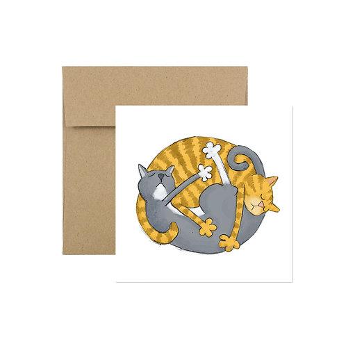 'Catnap' Greeting Card