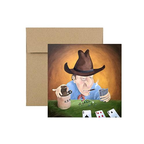 'Peter Poker' Greeting Card