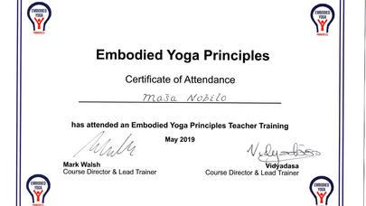 Embodied Yoga Principles Teacher