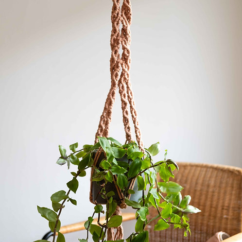 Custom made macramé plant hanger