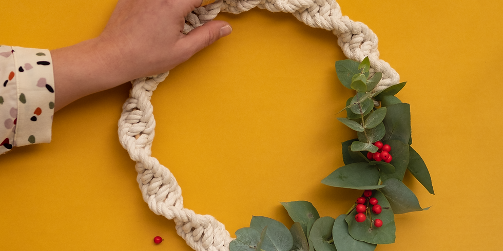 Macramé wreath
