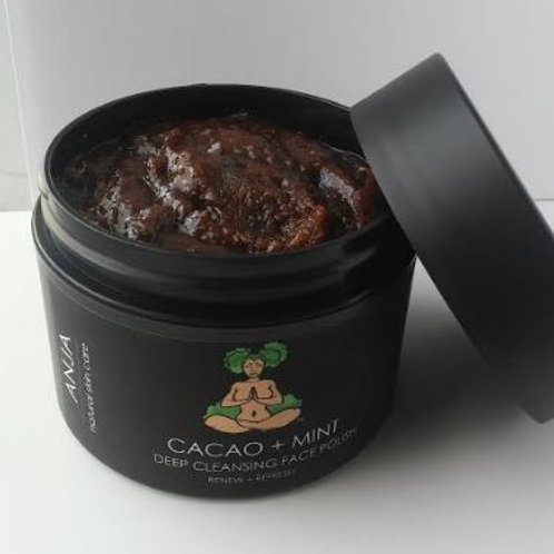 CACAO + MINT  DEEP CLEANSING FACE POLISH