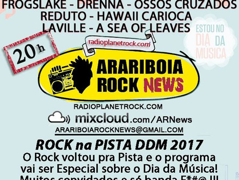 Entrevista hoje no Araribóia Rock News