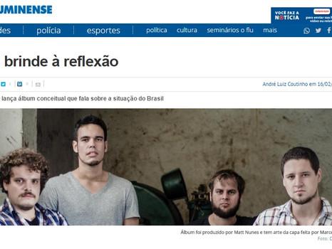 "Estamos no jornal ""O Fluminense"""