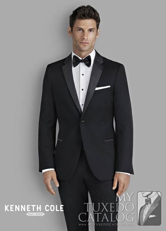 Black Stretch 'Parkville' Tuxedo