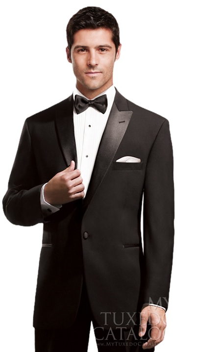 Black Two Notch Tuxedo