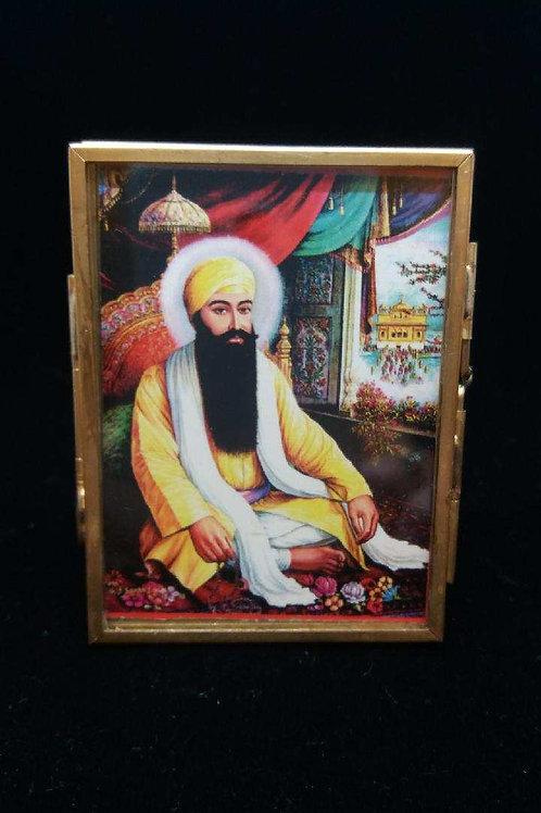 Guru Ram Das with Gold Frame