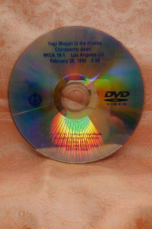 Yogi Bhajan Talks to the Chiropractic Associations - 18.1