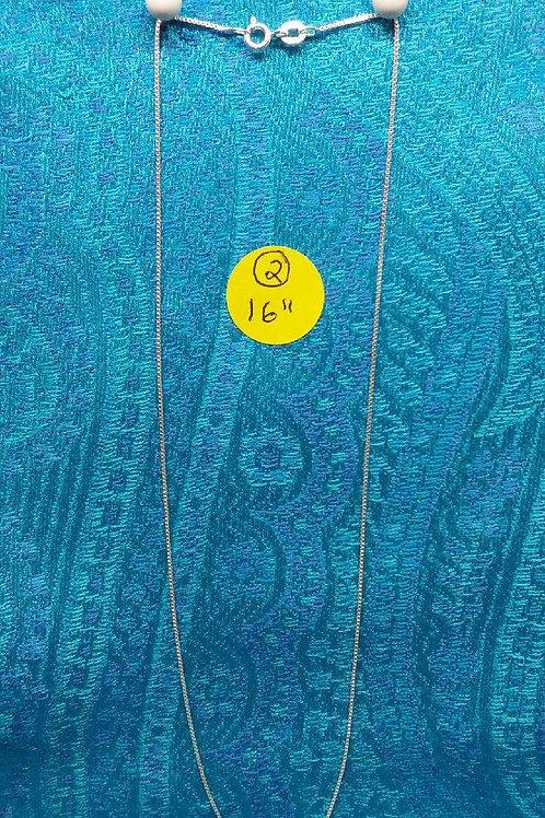 "16"" silver necklace"