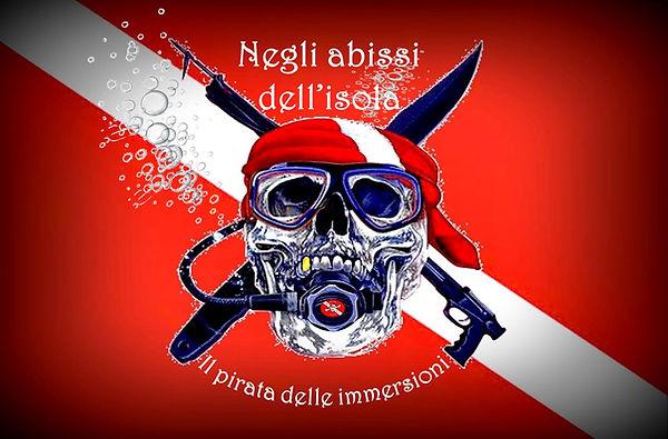 Bandiera pirata delle immersioni