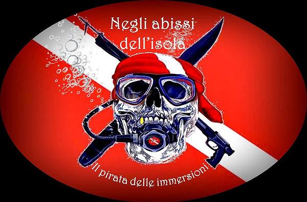 Adesivo Il pirata delle immersioni