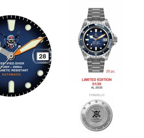Particolari dell'orologio Il pirata delle immersioni 2.000 m