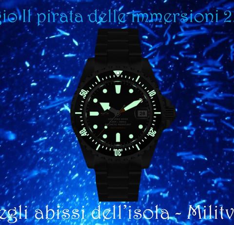 Orologio Il pirata delle immersioni 18
