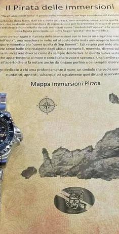 Pergamena orologio Il pirata delle immersioni 2.000 m