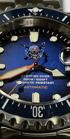 Orologio Il pirata delle immersioni 2.000 m. quadrante
