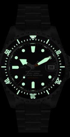 Fluorescenza orologio Il pirata delle immersioni 2.000 m