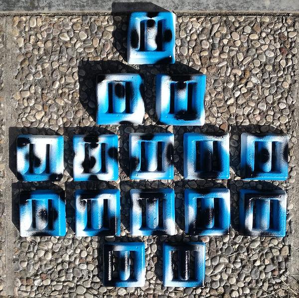 Piombi quadrati mimetici blu
