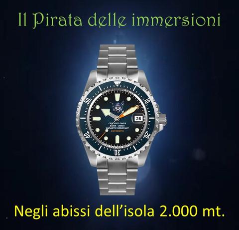 Orologio Il pirata delle immersioni 2.000 m