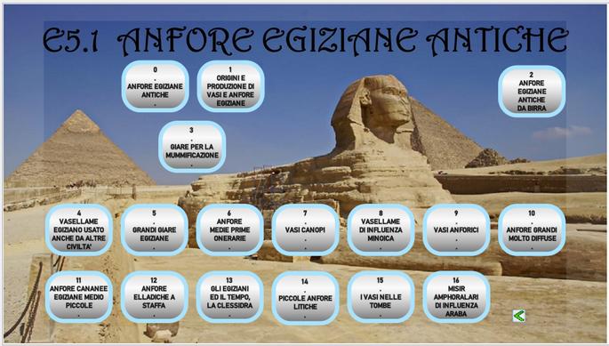 L'ABC ICON il catalogo Menu Anfore Egiziane