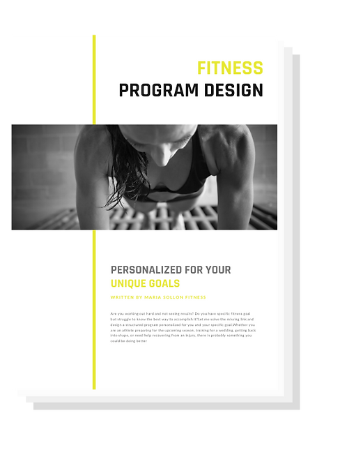 Fitness Program Design