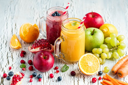 Berry and vegetables  smoothie, healthy