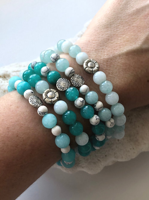 Mermaid Stretchies with Howlite