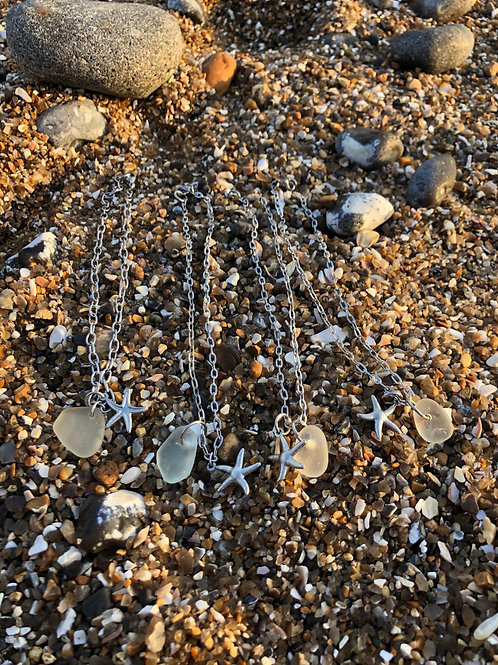 Anklets - White Seaglass
