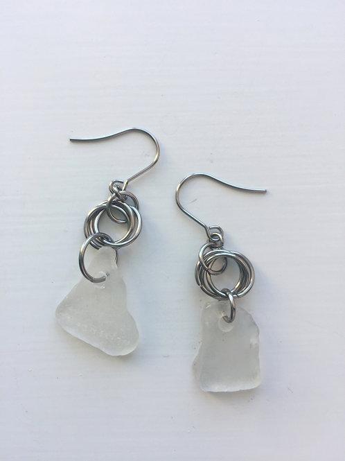 White Seaglass Drops