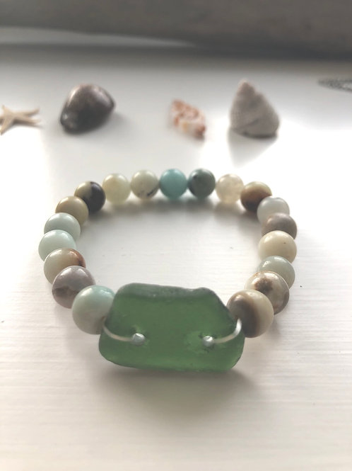 Amazonite Mermaid Stretchies