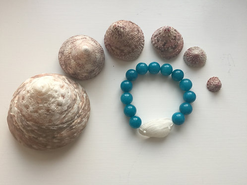 Chunky Blue Jadeite Mermaid Stretchie