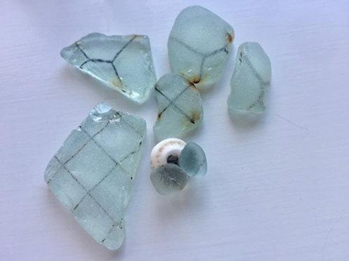 RARE - Safety glass Sea glass Studs