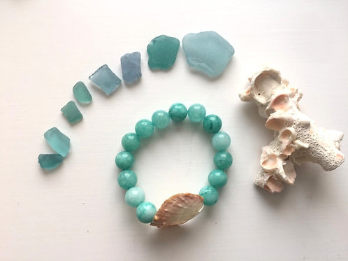 Mermaid Stretchie - Aqua bracelet